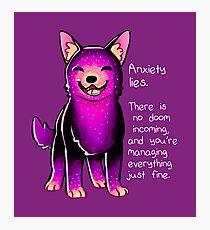 "Lámina fotográfica ""La ansiedad miente"" Sparkle Pup"