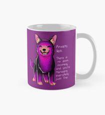 """Anxiety Lies"" Sparkle Pup Mug"