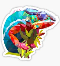 Low Poly Chameleon Sticker