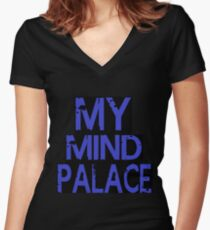 MY MIND PALACE Women's Fitted V-Neck T-Shirt