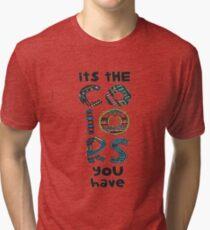its colors you have Tri-blend T-Shirt