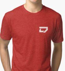 Dreamscape - Corner Logo (White) Tri-blend T-Shirt