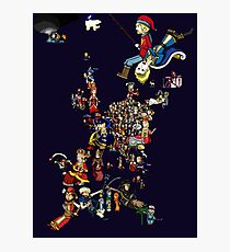 Renaissance Europe National Personification Map Photographic Print