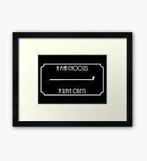 A Man Chooses... (White) Framed Print