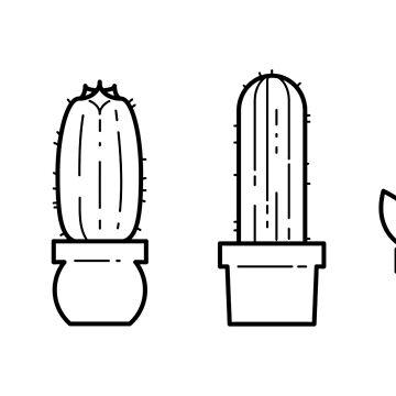 Minimalist Cacti by ashraae