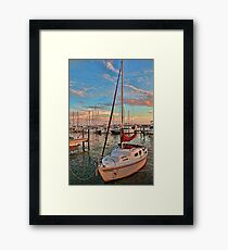 Afternoon At The Marina - Vertical  Framed Print