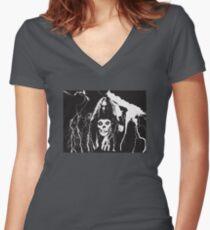 Cliff Burton T Shirt Women's Fitted V-Neck T-Shirt