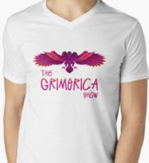 Grimerica Show Art by listener Caley C without Background V-Neck T-Shirt