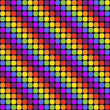 Disco rainbow dot pattern by Kerby664