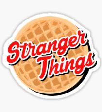 strange waffle Sticker