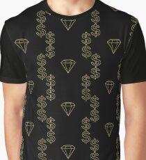 Black and Gold Diamond & Dollar Graphic T-Shirt