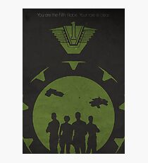 The Fifth Race (Stargate SG1 - Negative Space Print) Photographic Print
