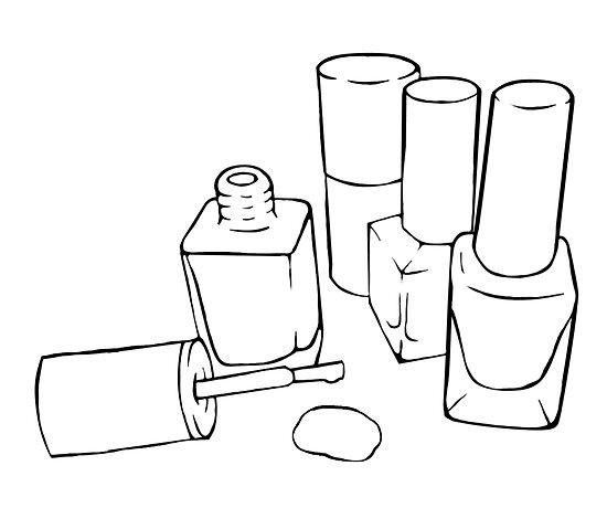 How To Draw Nail Polish Bottles