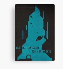 The Ancient Ones - (Stargate Atlantis Negative-Space Print) Canvas Print