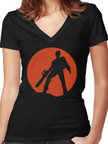 Ash vs The Evil Dead Women's Fitted V-Neck T-Shirt