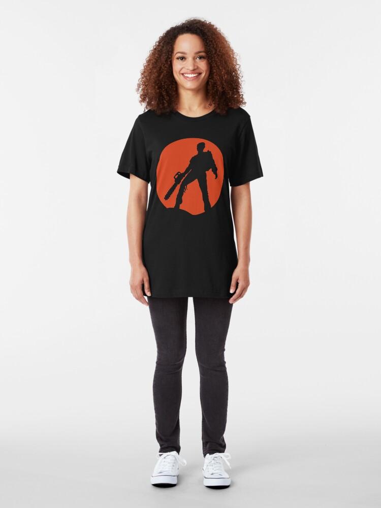 Vista alternativa de Camiseta ajustada Ash vs The Evil Dead