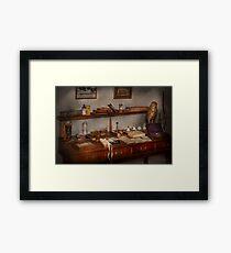 Doctor - Vet - The desk of a Veterinarian Framed Print