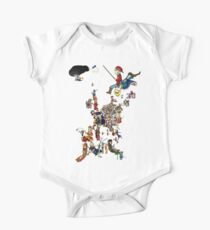 Renaissance Europe National Personification Map One Piece - Short Sleeve