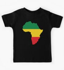 Green, Gold & Red Africa Flag Kids Tee