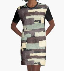 Textured Layers Abstract Graphic T-Shirt Dress