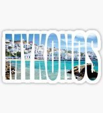 Mykonos Sticker