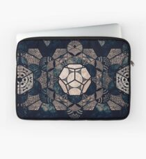 Sacred Geometry Mix- Platonic Solids Laptop Sleeve
