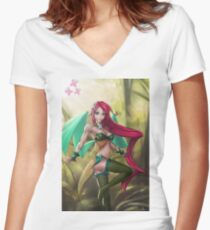 Pin-up MLP Fluttershy Women's Fitted V-Neck T-Shirt