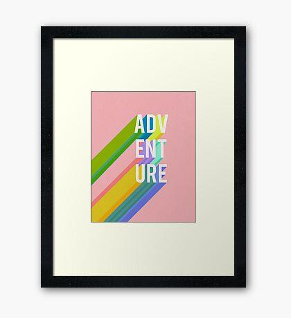 Adventure in Pink Framed Print