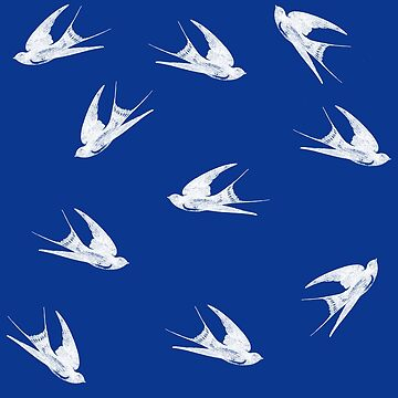 White Swallows Pattern by Greenbaby