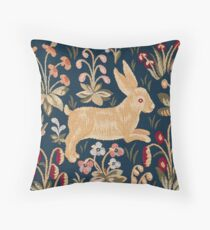 Woodland Rabbit Throw Pillow
