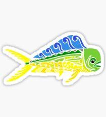 Mani Mahi Tribal Design - Colored Sticker