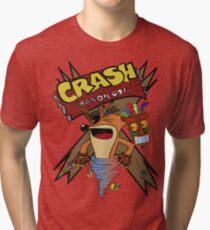 Old Timey Crash Bandicoot Tri-blend T-Shirt