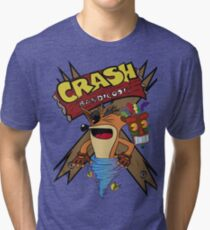 Old Timey Crash Bandicoot Tri-blend T-Shirt