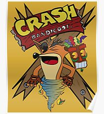 Old Timey Crash Bandicoot Poster