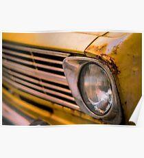 70s Vintage Rusty Car Poster