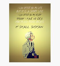 Jem Carstairs Heart Quote TID Photographic Print