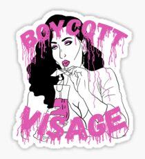 Boycott Visage Sticker