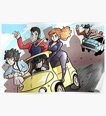 Lupin III Car Chase Poster