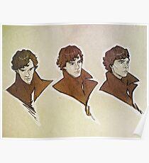 Sherlock - Faces Poster