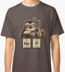 Chemistry sloth discovered nap Classic T-Shirt