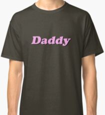 """Baby Pink """"Daddy"""" Logo Classic T-Shirt"""