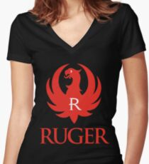 RUGER Women's Fitted V-Neck T-Shirt