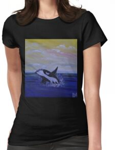 Whale Hello There! Womens Fitted T-Shirt