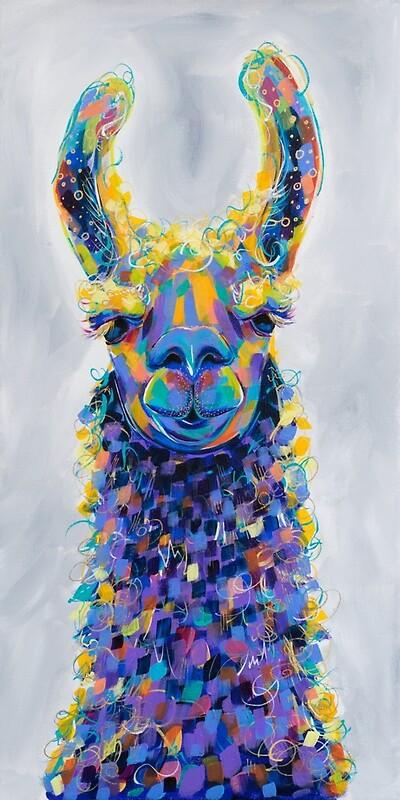 Colorful Llama Painting