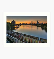 Boston's Grand Junction railroad crossing the Charles. Art Print