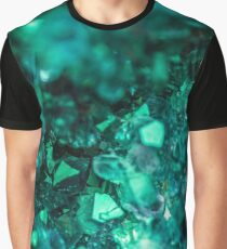 Bold Teal Green Geode Graphic T-Shirt
