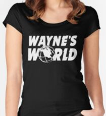 Wayne's World Logo Women's Fitted Scoop T-Shirt