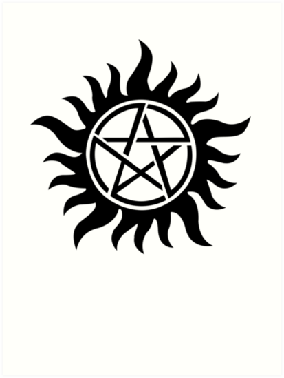 'Supernatural inspired Anti-Possession Symbol Tattoo' Art Print by  AdrienneOrpheus