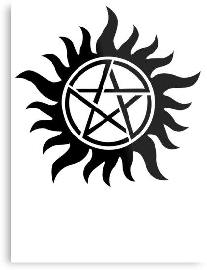 Supernatural Inspired Anti Possession Symbol Tattoo Metal Prints By