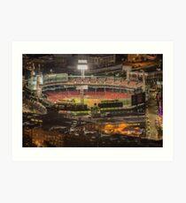 Fenway Park before game, Boston. Art Print